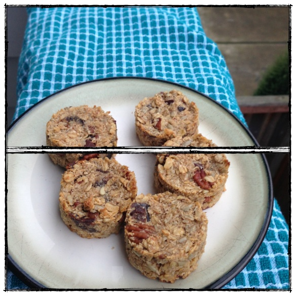 coconut and oat breakfast cookie