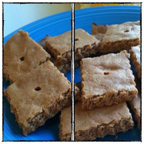 cinnamon honey graham crackers (made with whole wheat flour)