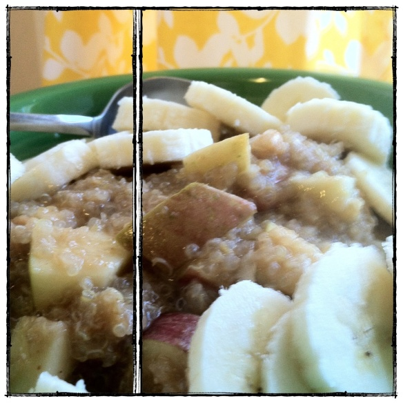peanut butter quinoa with apples and honey