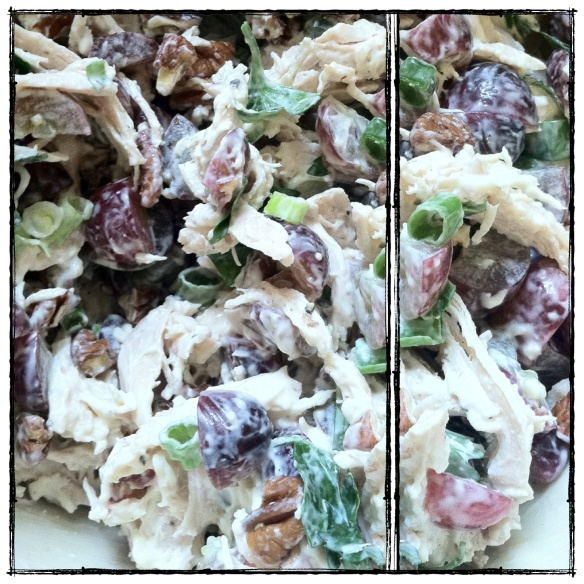 Chicken Salad with Parsley, Grapes, + Pecans (gluten-free, paleo)