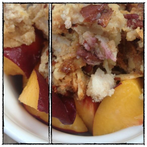 Peach Cobbler (grain : dairy : egg : gluten free, paleo)
